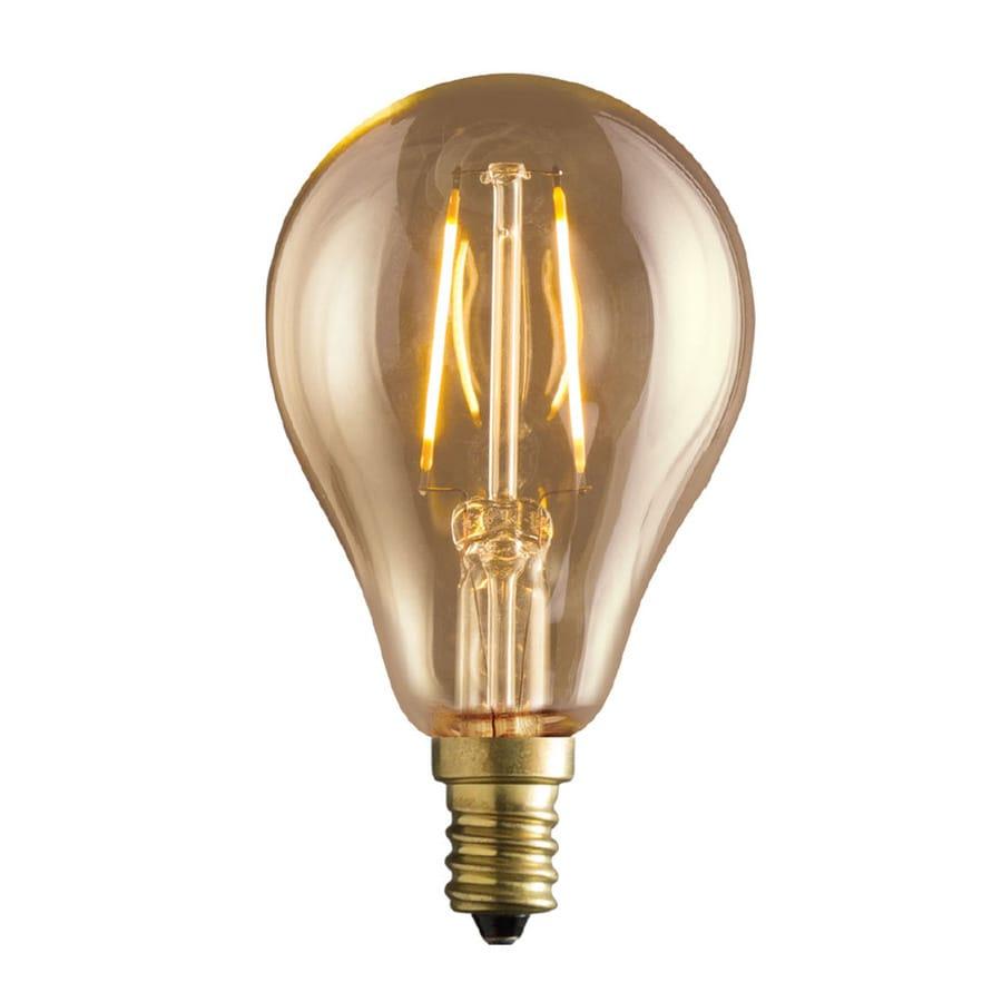 Kichler Lighting Vintage 2-Watt (40W Equivalent) 2,200K Candelabra Base (E-12) Amber Dimmable Decorative LED Light Bulb