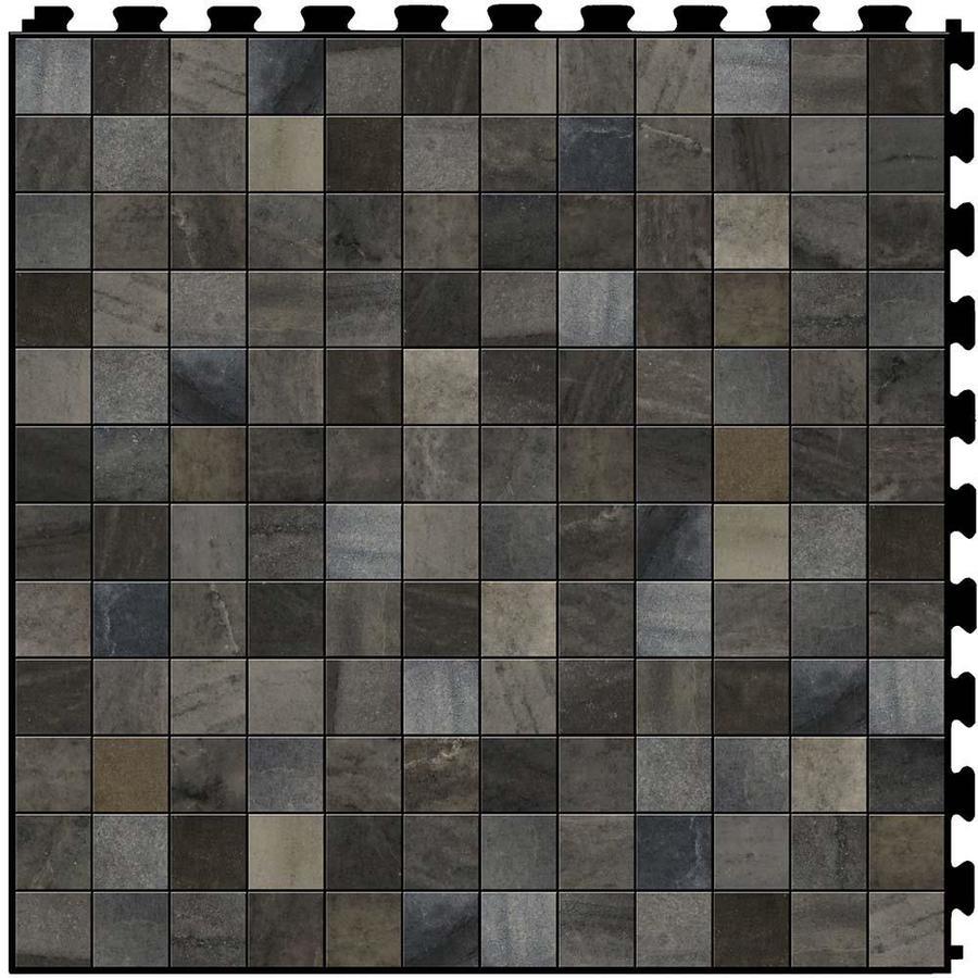 Vinyl Flooring Options Lowes: Shop Perfection Floor Tile LVT 6-Piece 20-in X 20-in Gray