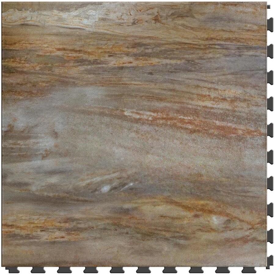 Shop perfection floor tile lvt 6 piece 20 in x 20 in grays for Industrial stone vinyl tile