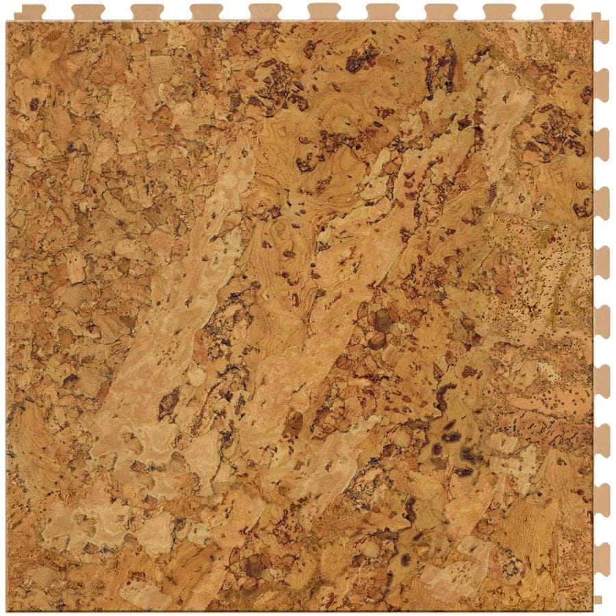 Shop perfection floor tile lvt 6 piece 20 in x 20 in cork for Luxury linoleum flooring