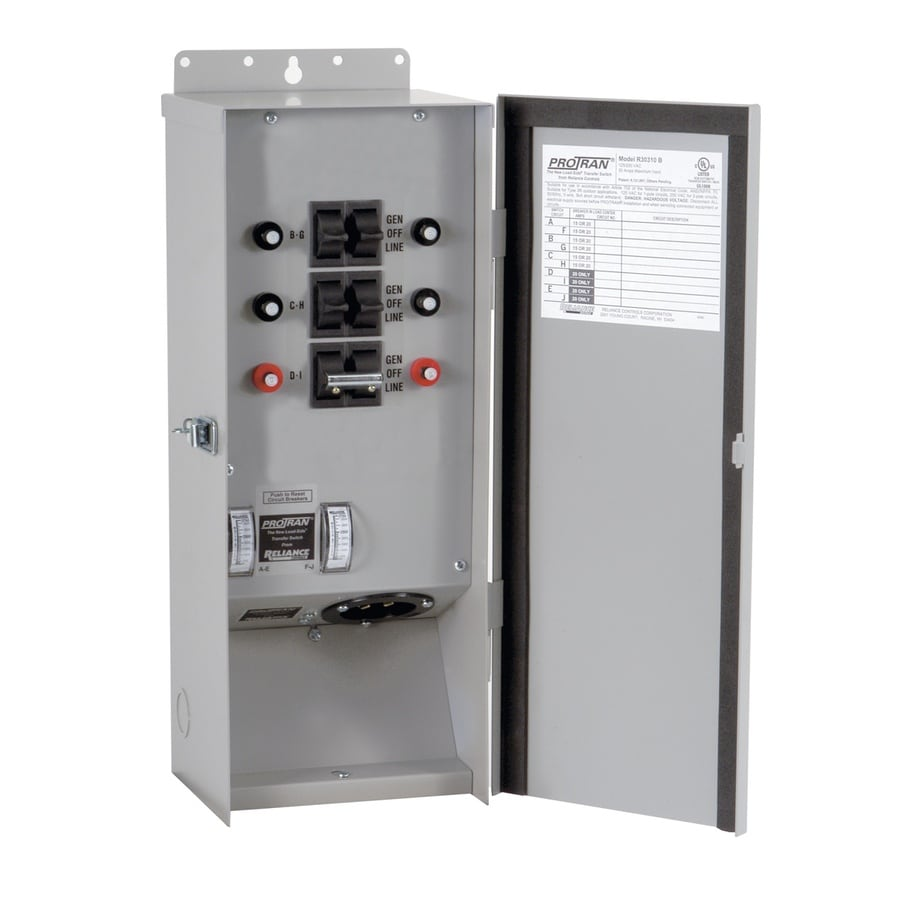 Reliance 30-Amp 6-Circuit Outdoor Transfer Switch