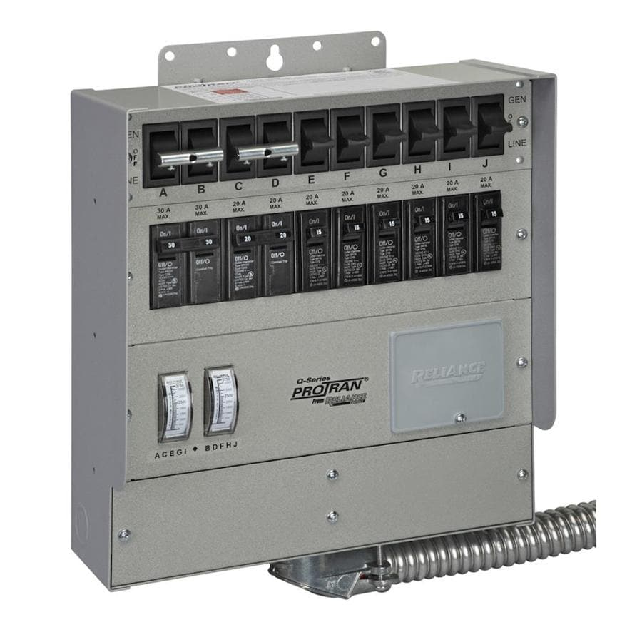 Reliance Heavy Duty 30-Amp 10-Circuit Indoor Transfer Switch