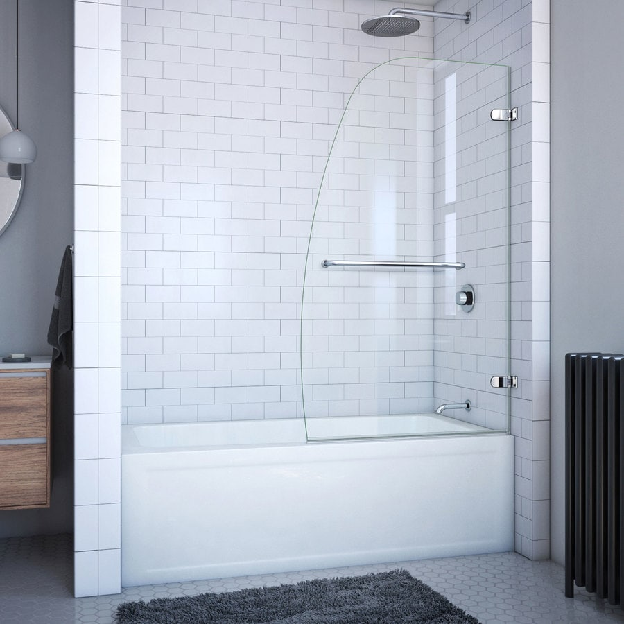 DreamLine Aqua Uno 34-in W x 58-in H Frameless Bathtub Door