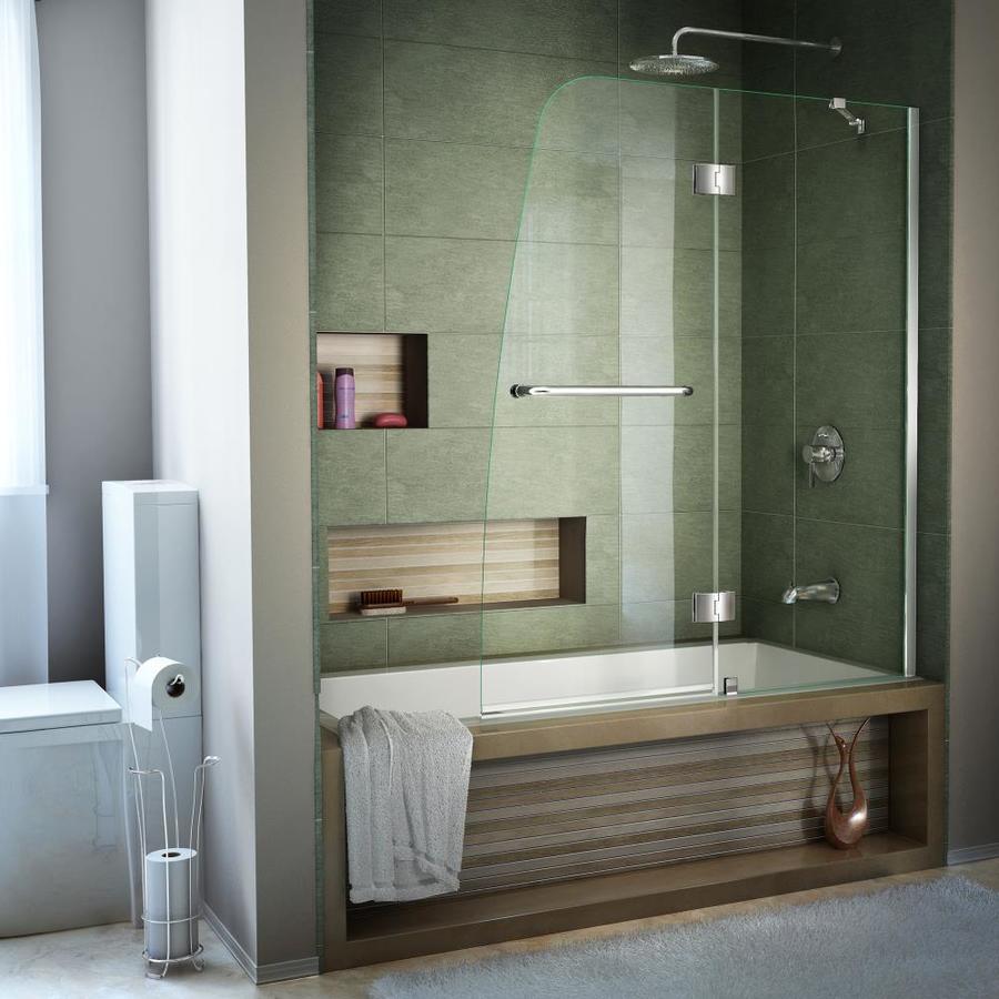 Shop Dreamline Aqua 48 In W X 58 In H Frameless Bathtub
