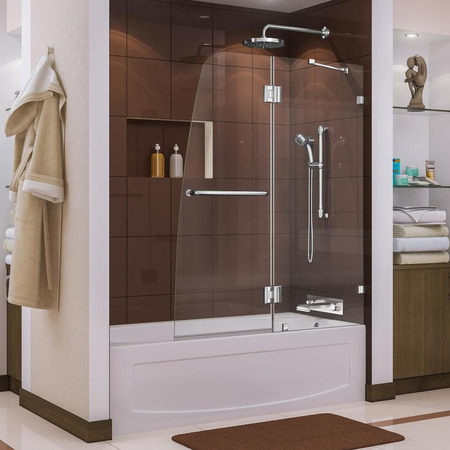 DreamLine AquaLux 48-in W x 58-in H Frameless Bathtub Door