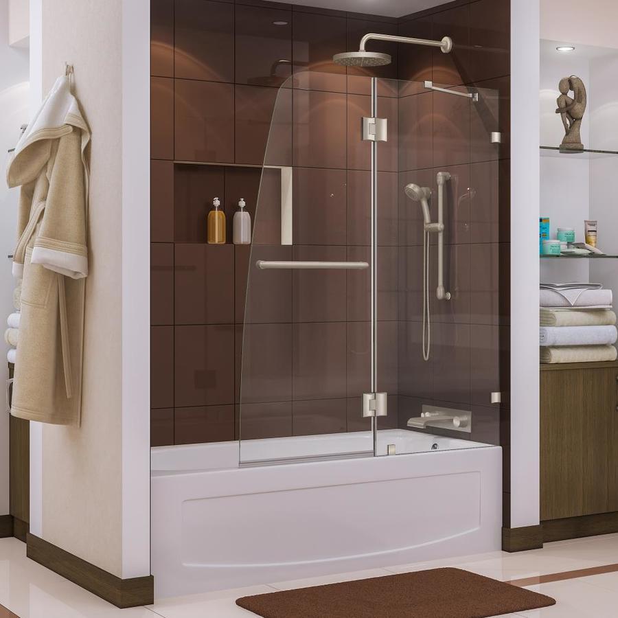DreamLine AquaLux 48-in W x 58-in H Frameless Bathtub Door