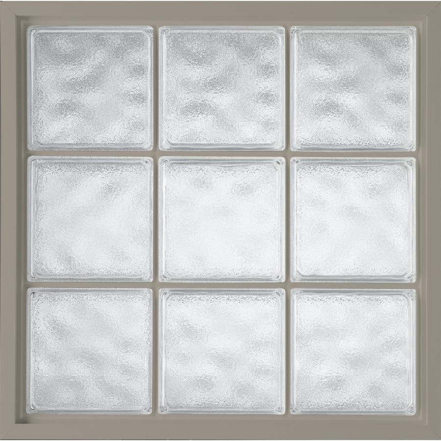 Hy-Lite Design Vinyl New Construction Acrylic Block Window (Rough Opening: 34.5-in x 34.5-in; Actual: 34-in x 34-in)