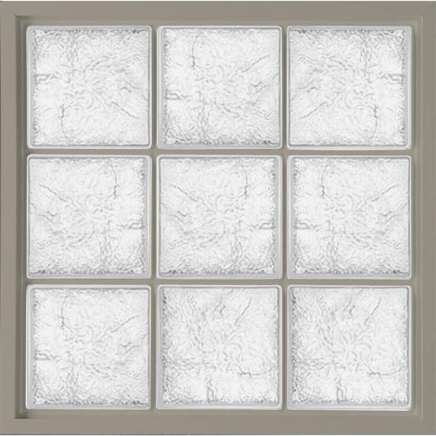 Shop hy lite vinyl new construction glass block window for New construction windows reviews