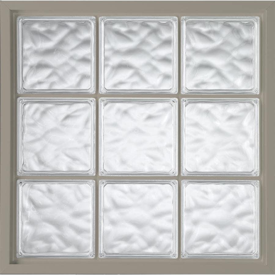 Hy-Lite Vinyl New Construction Glass Block Window (Rough Opening: 32-in x 32-in; Actual: 31.5-in x 31.5-in)