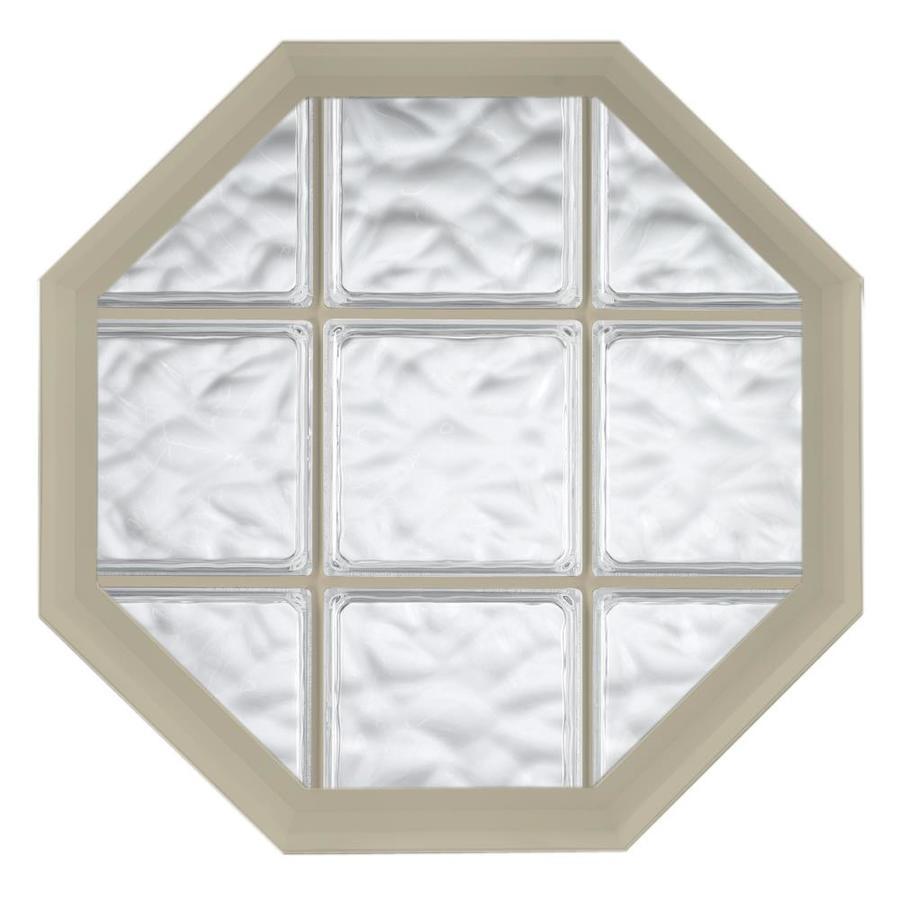 Hy-Lite Design Vinyl New Construction Acrylic Block Window (Rough Opening: 26.5-in x 34.5-in; Actual: 26-in x 34-in)