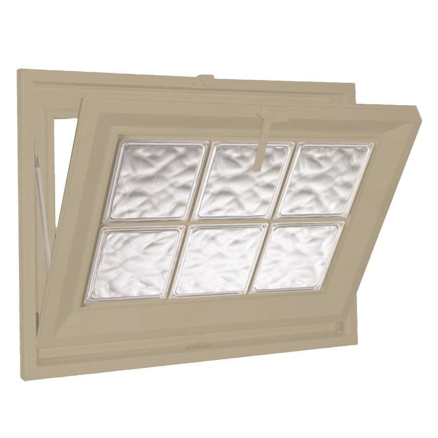 Hy-Lite Classic Tilting Vinyl Double Pane Tempered New Construction Basement Hopper Window (Rough Opening: 25.5-in x 19.5-in Actual: 25-in x 19-in)