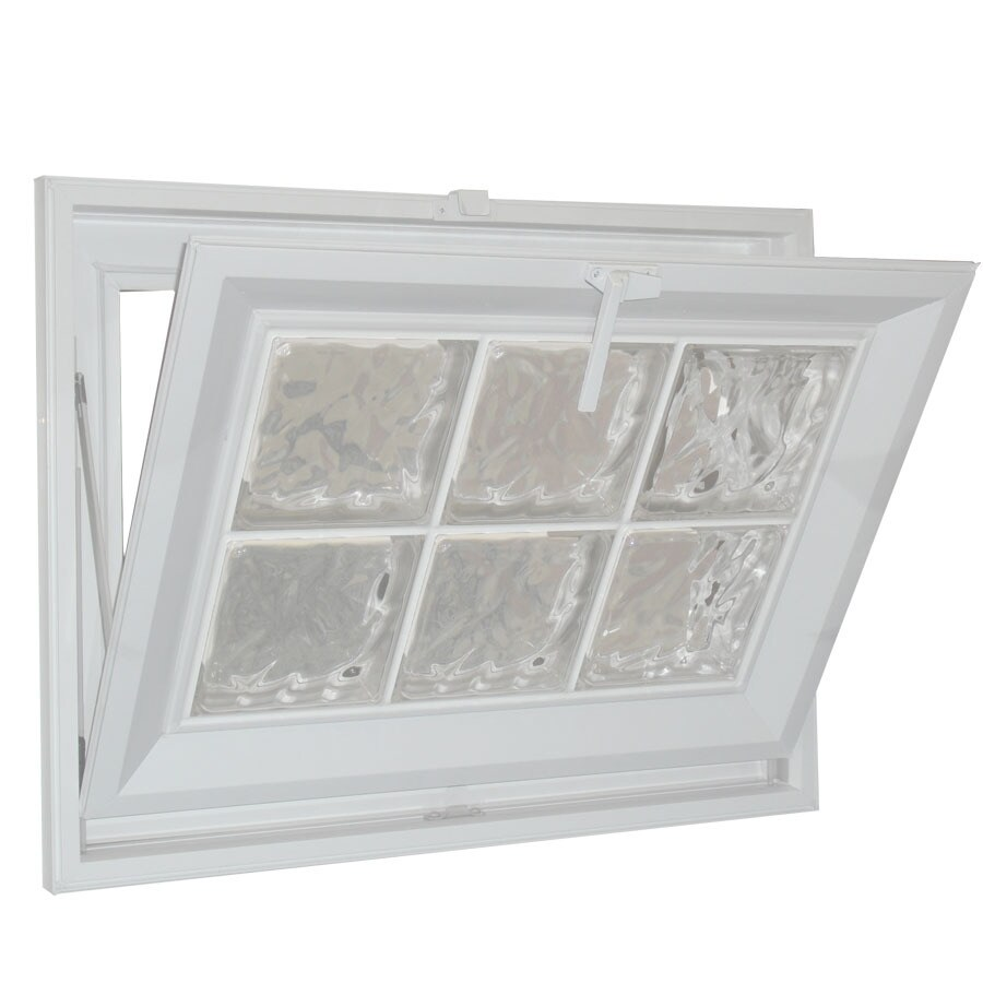Hy-Lite Classic Tilting Vinyl Double Pane Tempered New Construction Basement Hopper Window (Rough Opening: 31.5-in x 31.5-in Actual: 31-in x 31-in)