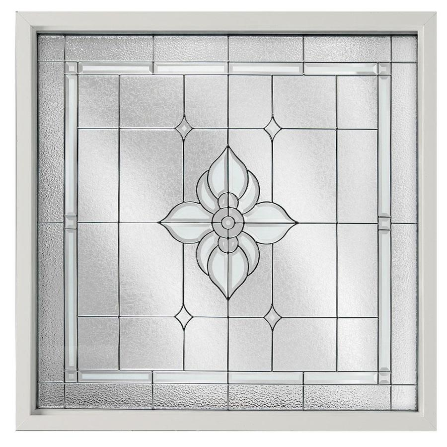 Hy-Lite 48-in x 48-in Decorative Glass Triple Pane Tempered Square New Construction Window