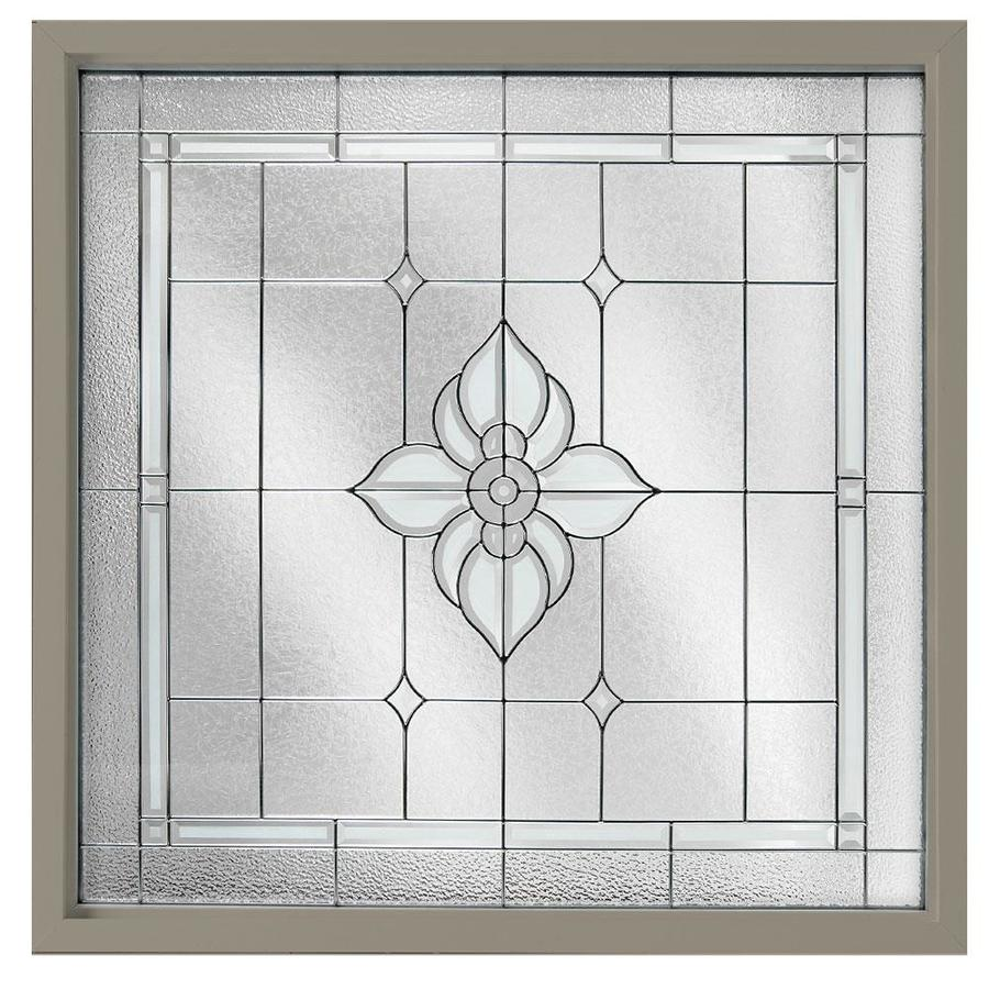 Shop hy lite 48 in x 48 in decorative glass triple pane for 12x48 window