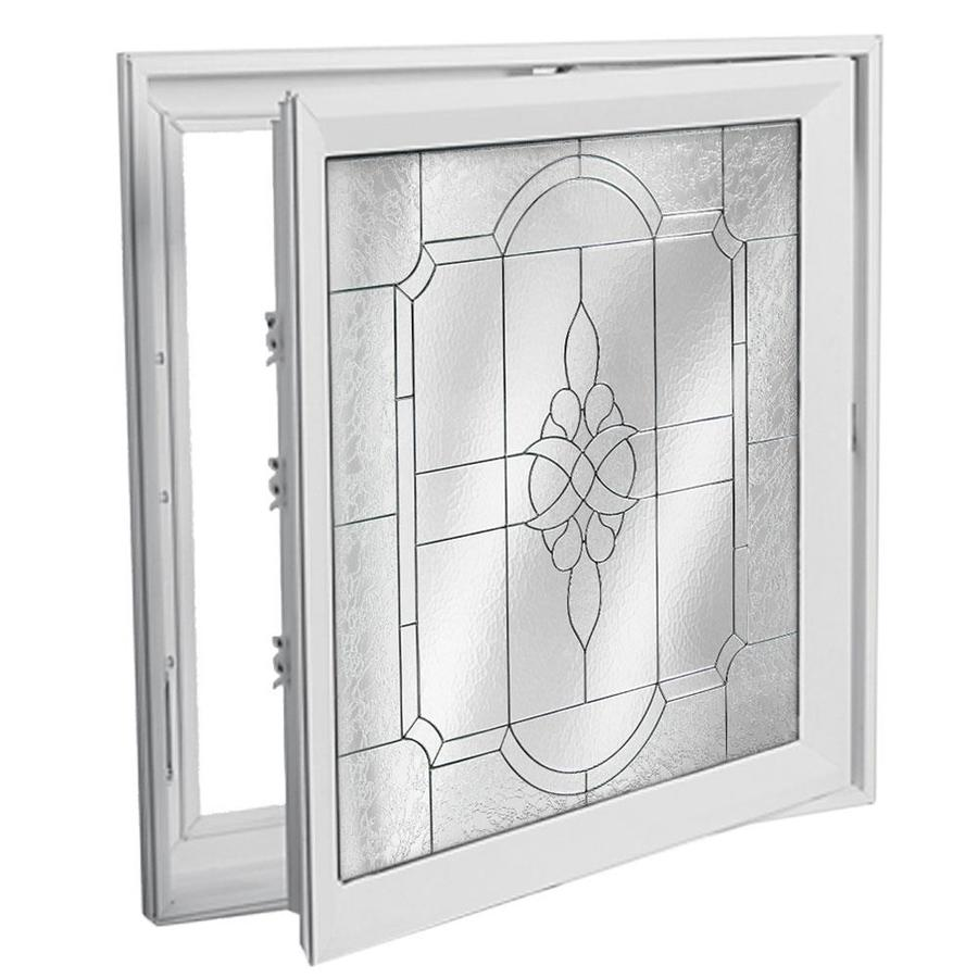 Shop hy lite 29 in x 29 in decorative glass triple pane for Decorative tempered glass panels