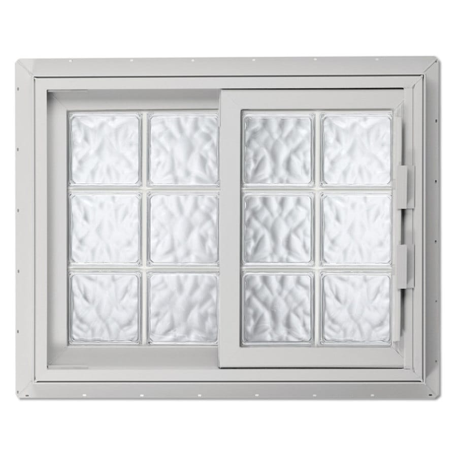 Hy-Lite Design Left-Operable Vinyl Double Pane Tempered New Construction Sliding Window (Rough Opening: 53.25-in x 46.625-in; Actual: 52.75-in x 46.125-in)