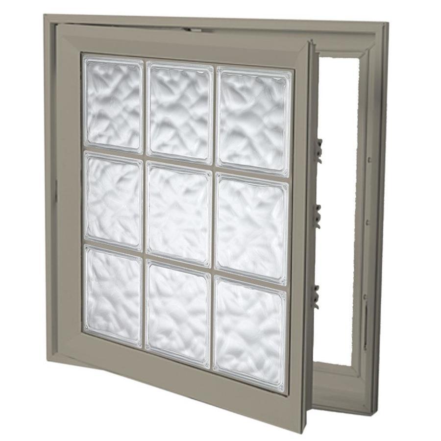 Hy-Lite Deisgn Vinyl Double Pane Tempered New Construction Casement Window (Rough Opening: 22-in x 22-in Actual: 21.5-in x 21.5-in)
