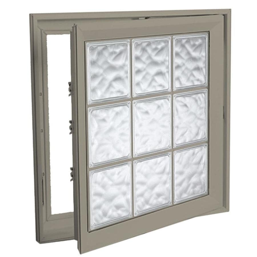 Hy-Lite Deisgn Vinyl Double Pane Tempered New Construction Casement Window (Rough Opening: 30-in x 30-in Actual: 29.5-in x 29.5-in)