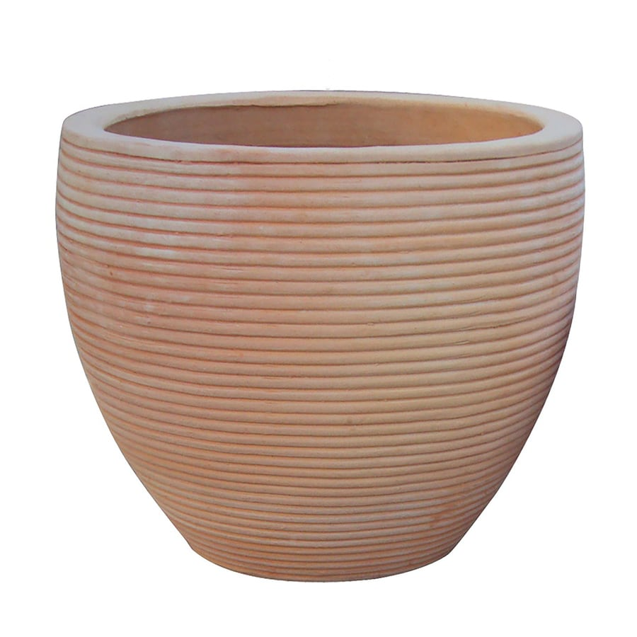 20.5-in x 18-in Natural Terracotta Clay Planter