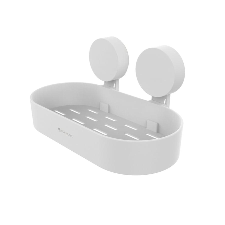 Everloc White Plastic Bathtub Caddy