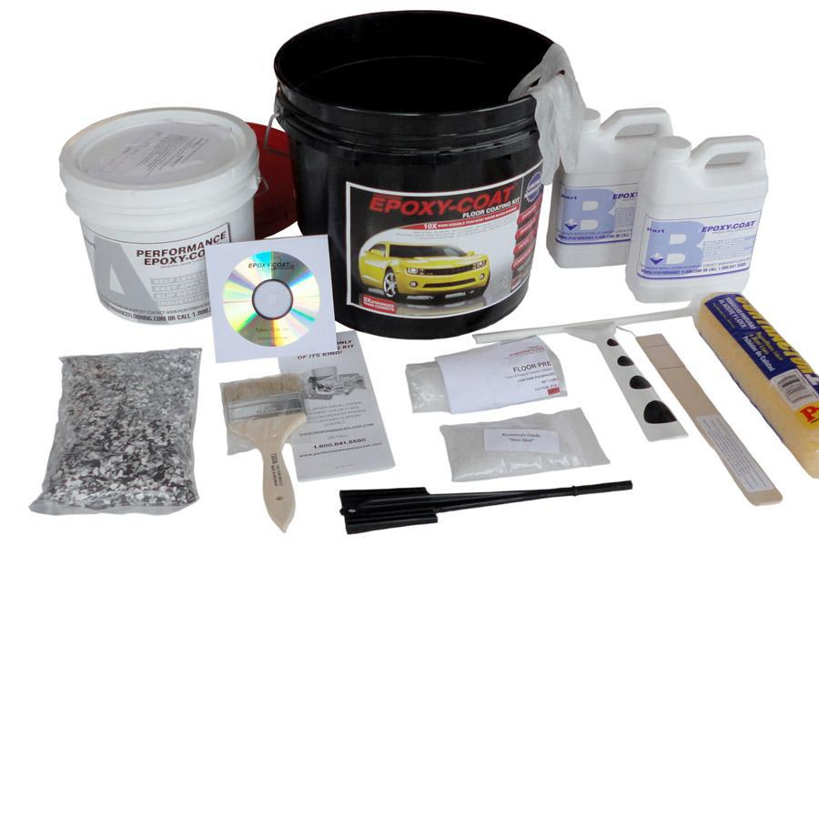 Epoxy-Coat 2-Part Safety Yellow High-Gloss Epoxy Garage Floor Epoxy Kit (Actual Net Contents: 192-fl oz)