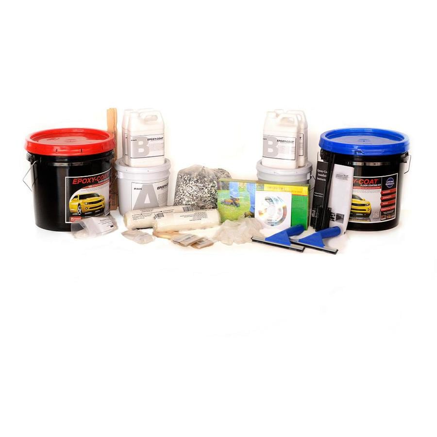 Epoxy-Coat 2-Part Smoke Blue with Clear Coat High-Gloss Epoxy Garage Floor Epoxy Kit (Actual Net Contents: 384-fl oz)