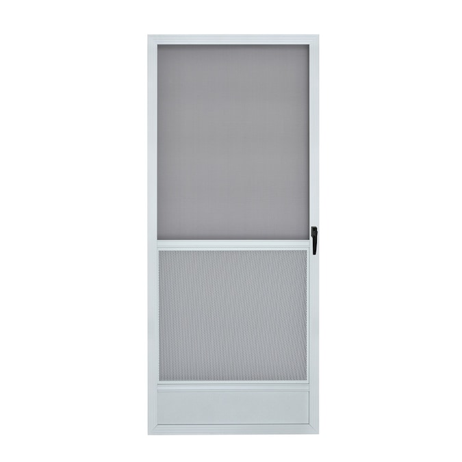 Reliabilt 6020 32 In X 80 In White Aluminum Frame Hinged Screen Door In The Screen Doors Department At Lowes Com