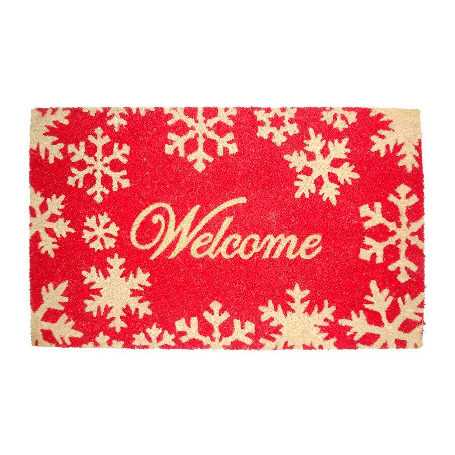 Holiday HOLIDAY PROMO Multicolor Rectangular Door Mat (Common: 18-in x 30-in; Actual: 17.6-in x 29.4-in)