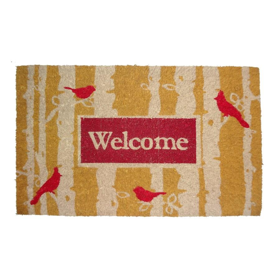 allen + roth HOLIDAY PROMO Multicolor Rectangular Door Mat (Common: 18-in x 30-in; Actual: 17.6-in x 29.4-in)