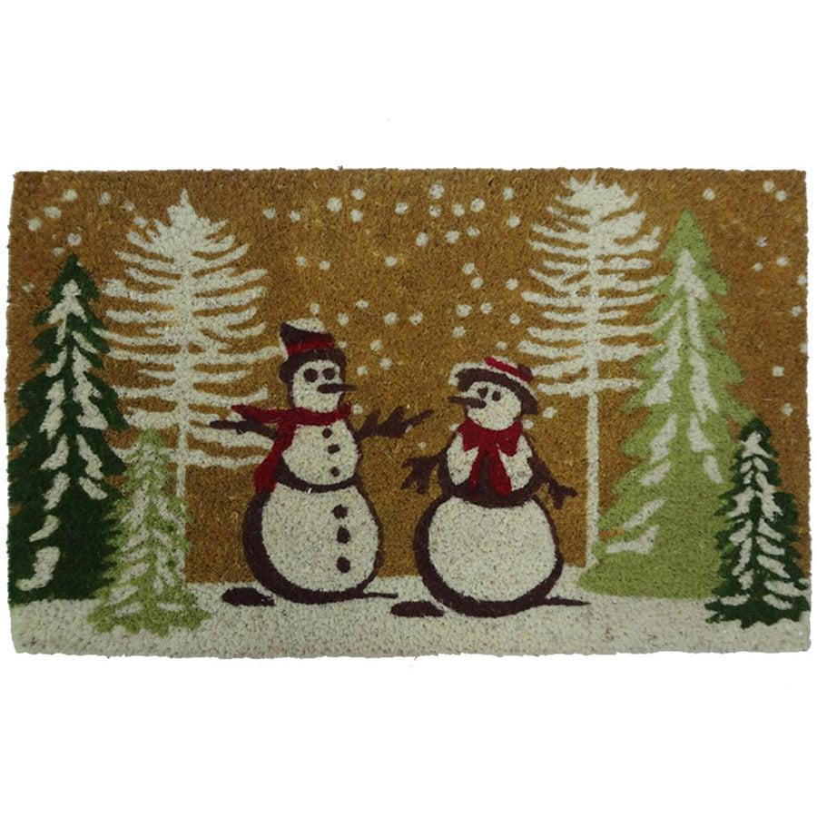 Holiday Living HOLIDAY PROMO Brown Rectangular Door Mat (Common: 18-in x 30-in; Actual: 17.6-in x 29.4-in)