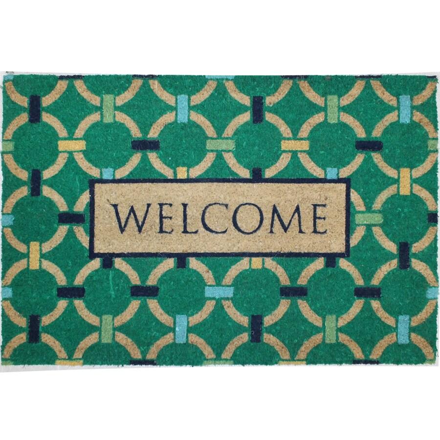 Green Rectangular Door Mat (Common: 24-in x 36-in; Actual: 24-in x 36-in)