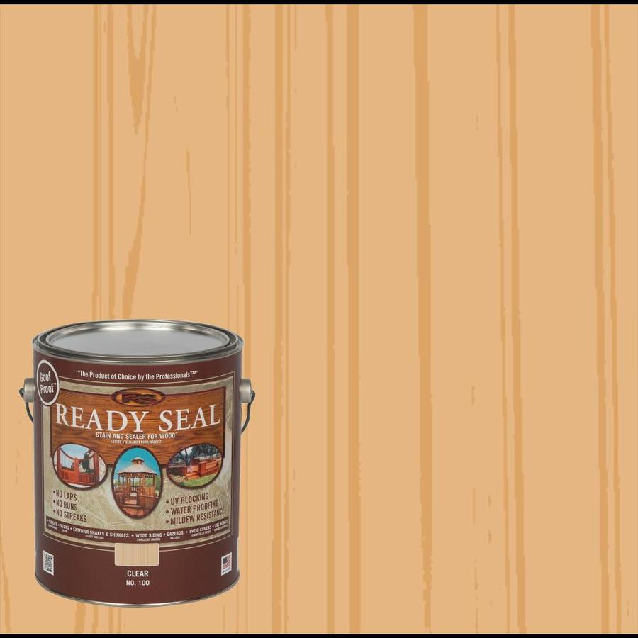 Ready Seal Clear Semi-Transparent Exterior Stain (Actual Net Contents: 128 Fluid Oz.)