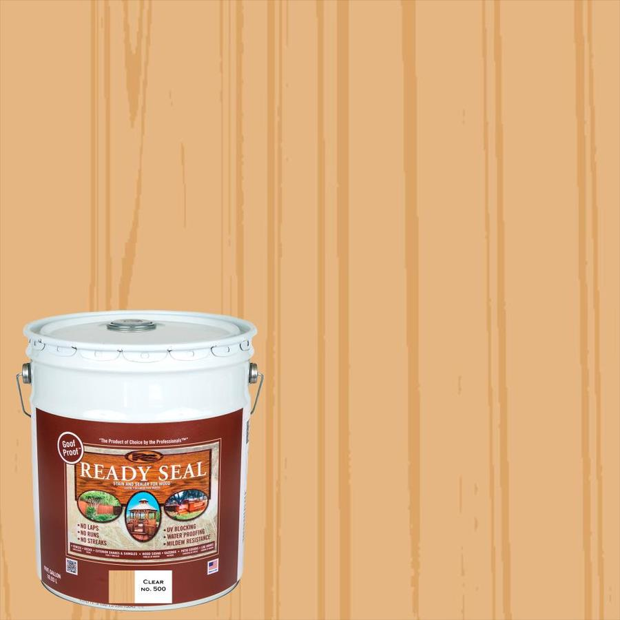 Shop Ready Seal Clear Semi Transparent Exterior Stain