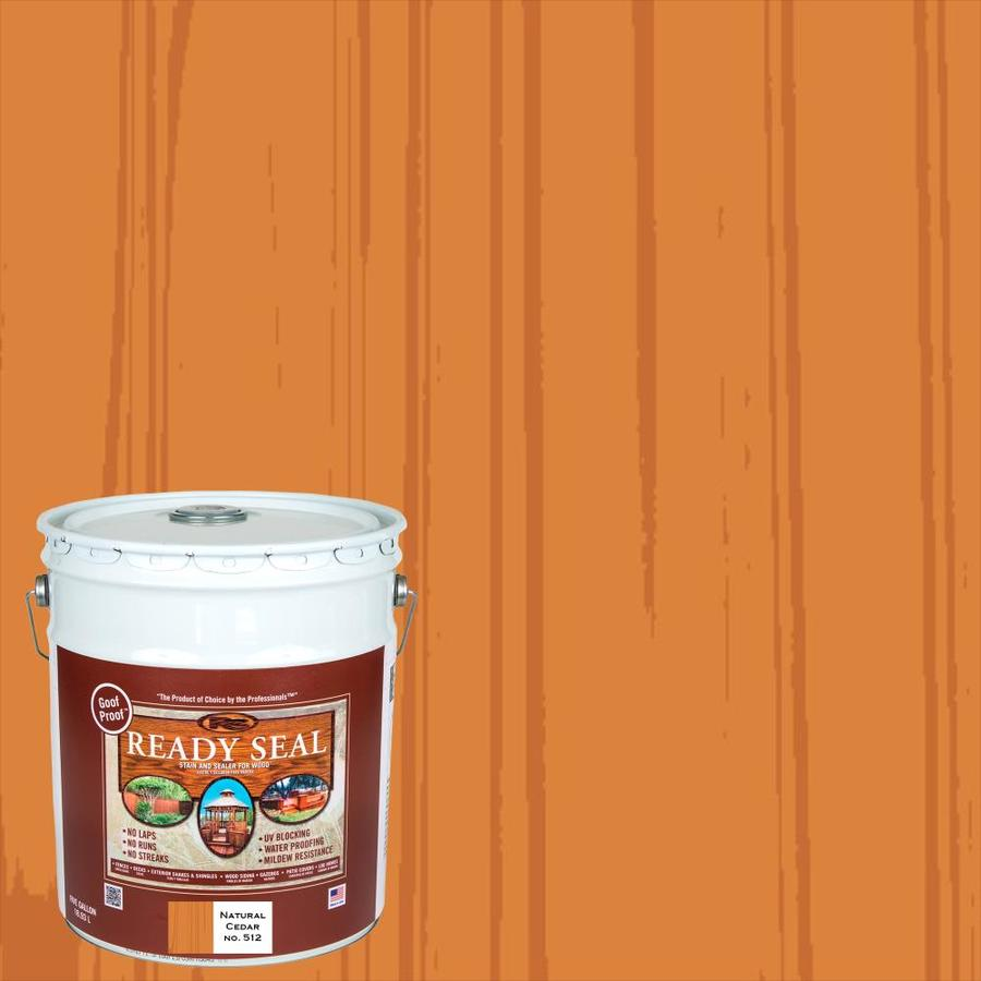 Ready Seal Natural Cedar Semi-Transparent Exterior Stain (Actual Net Contents: 640 Fluid Oz.)