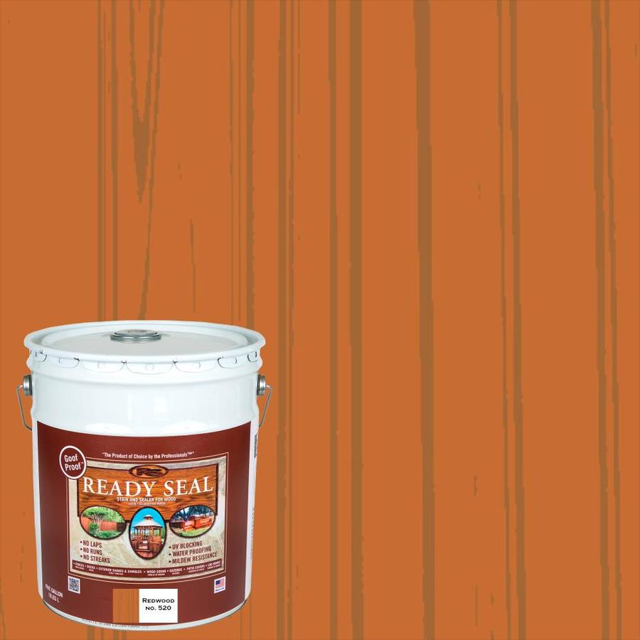 Ready Seal Redwood Semi-Transparent Exterior Stain (Actual Net Contents: 640 Fluid Oz.)