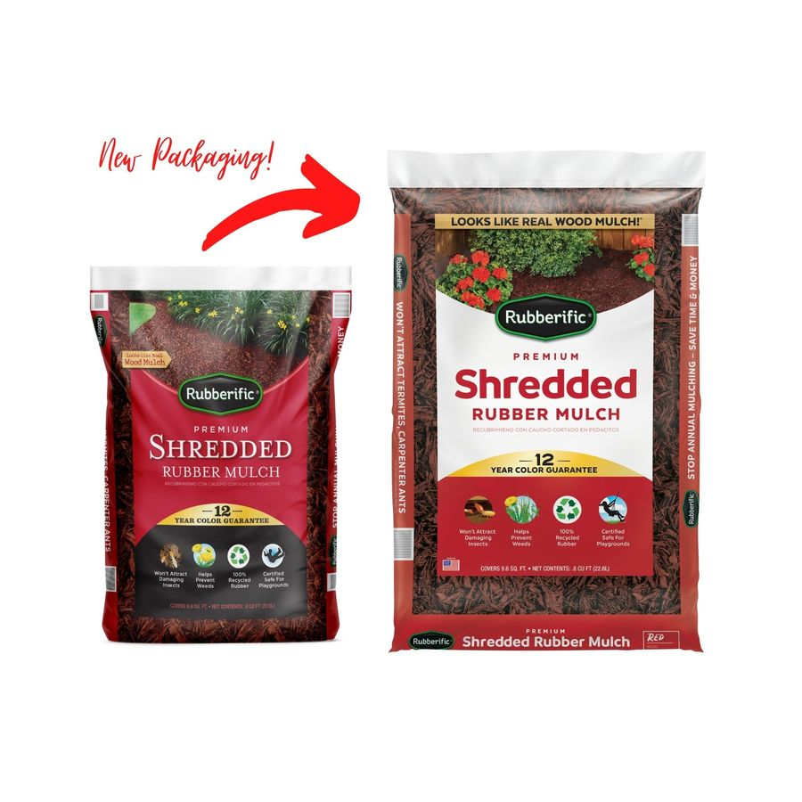 Rubberific 0.8-cu ft Red Shredded Rubber Mulch (Playground Certified)