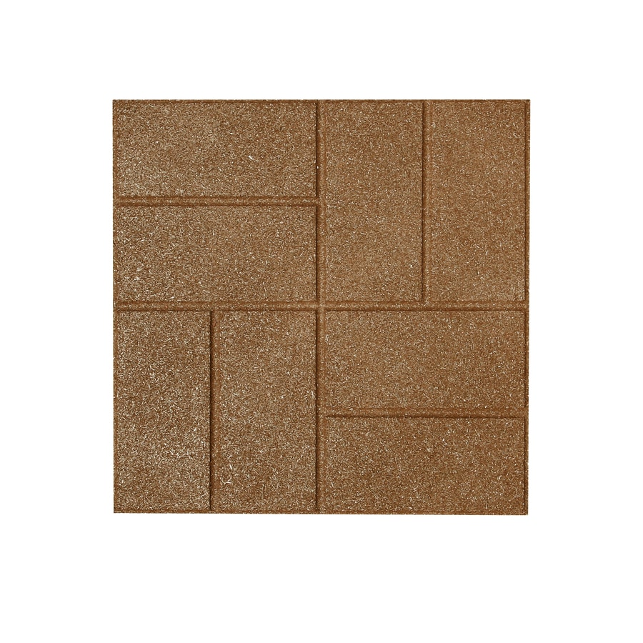 Rubberific Tan Rubber Square Patio Stone (Common: 16-in x 16-in; Actual: 16-in H x 16-in L)