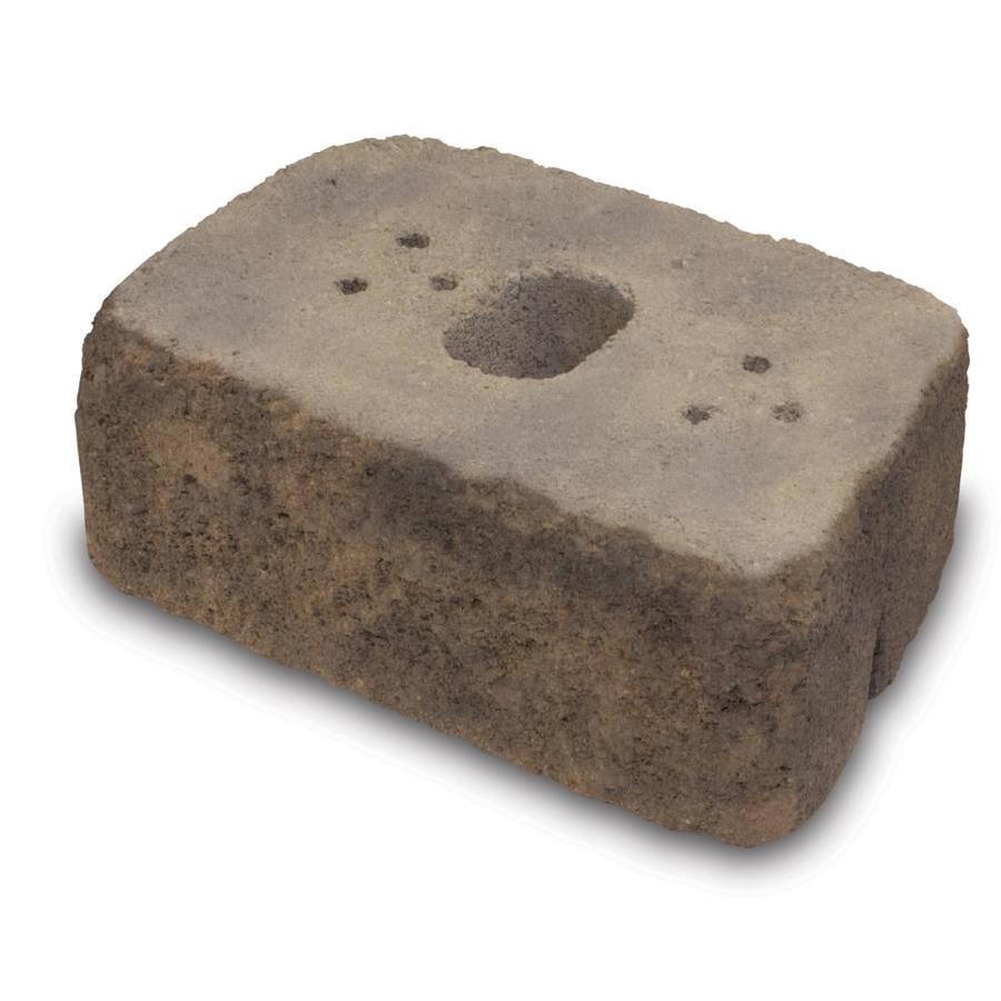 Tan/Brown Tumbled Concrete Retaining Wall Block (Common: 16-in x 6-in; Actual: 16-in x 6-in)