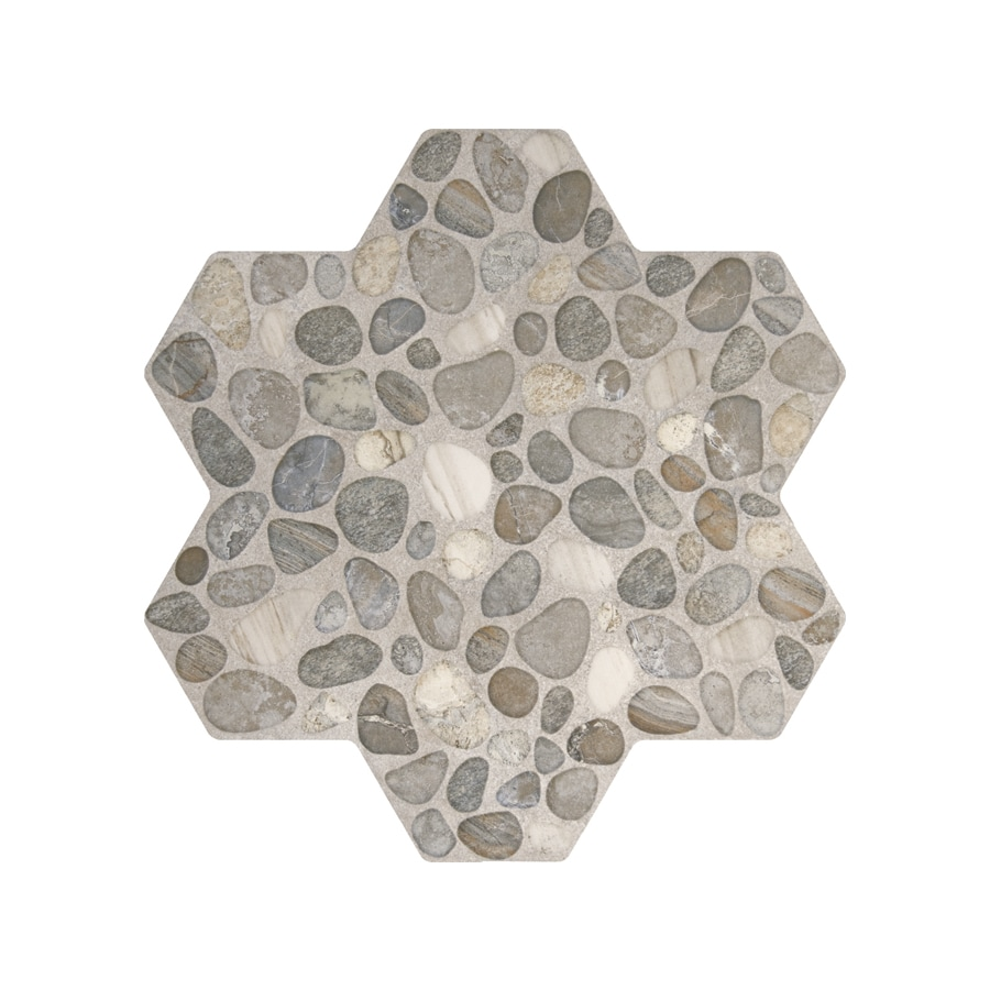 FLOORS 2000 5-Pack Agrega Gray Glazed Porcelain Indoor/Outdoor Floor Tile (Common: 18-in x 18-in; Actual: 17.75-in x 17.75-in)