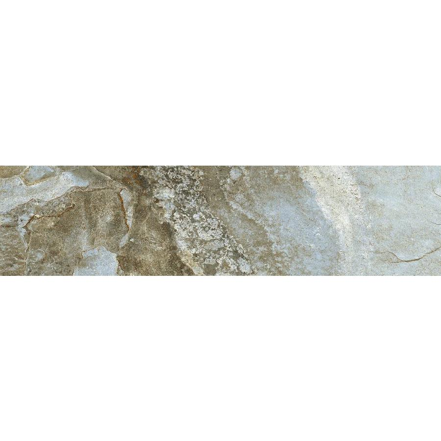 FLOORS 2000 Keystone Blue Porcelain Bullnose Tile (Common: 3-in x 18-in; Actual: 3-in x 17.72-in)