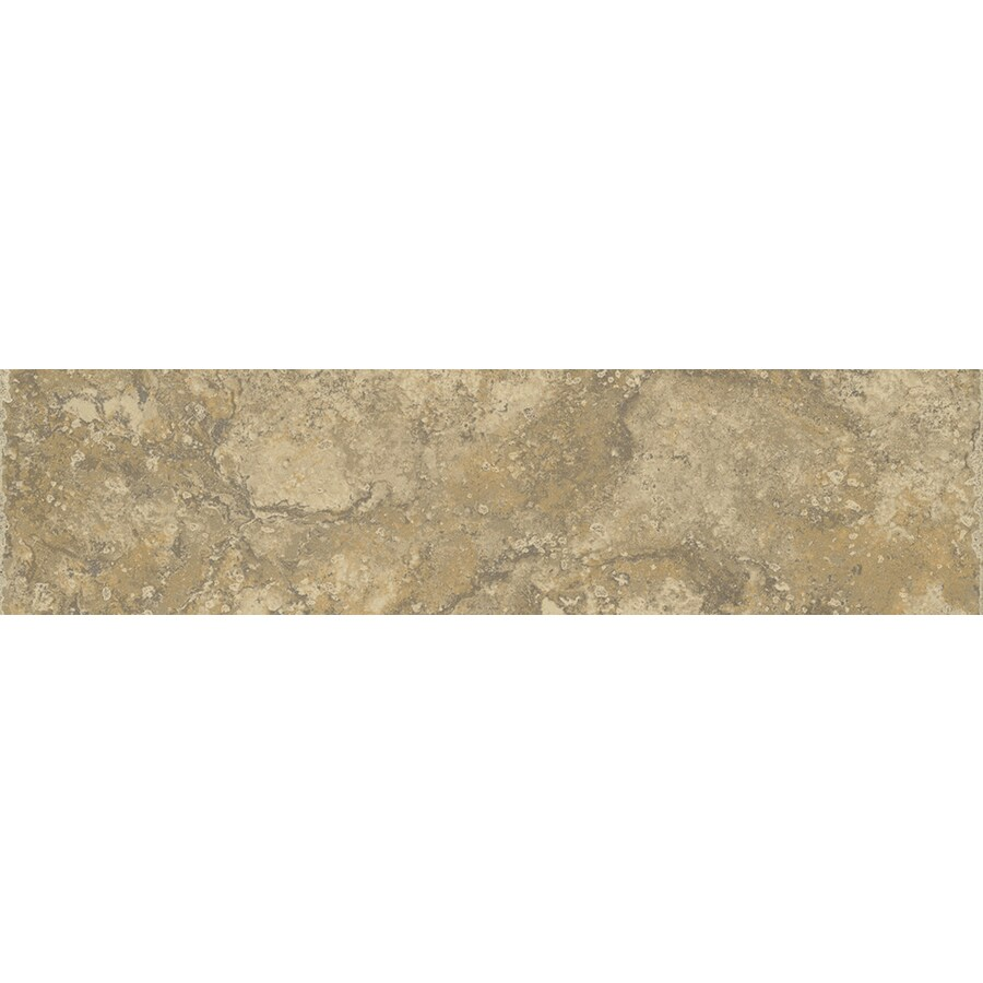 FLOORS 2000 Terrace Noce Porcelain Bullnose Tile (Common: 3-in x 13-in; Actual: 3-in x 13.11-in)