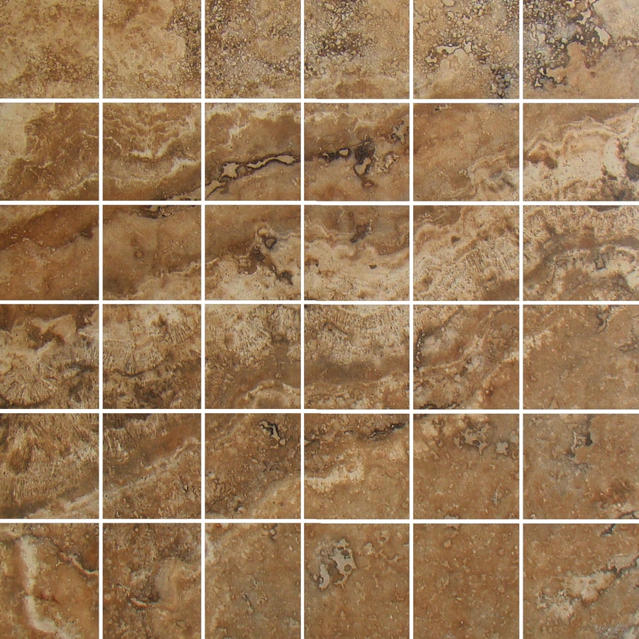 FLOORS 2000 Galapagos Evening Shore Uniform Squares Mosaic Porcelain Floor and Wall Tile (Common: 12-in x 12-in; Actual: 12-in x 12-in)