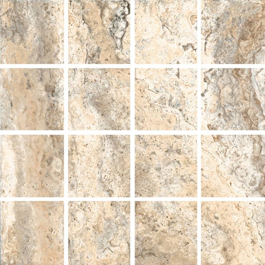 FLOORS 2000 Vitality Earth Uniform Squares Mosaic Porcelain Floor and Wall Tile (Common: 12-in x 12-in; Actual: 11.92-in x 11.92-in)