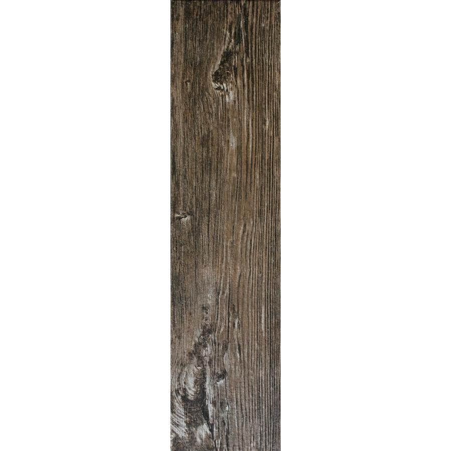 FLOORS 2000 Forest 12-Pack Amazon Wood Look Porcelain Floor Tile (Common: 6-in x 24-in; Actual: 5.75-in x 23.75-in)