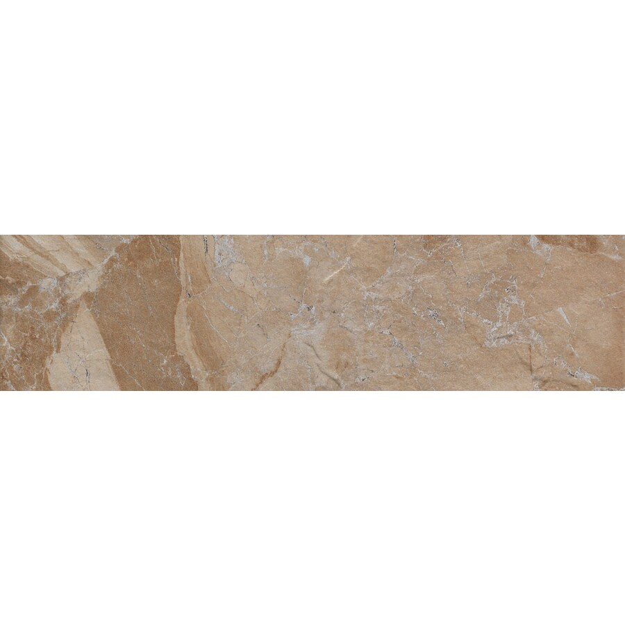 FLOORS 2000 Cortina Sand Porcelain Bullnose Tile (Common: 3-in x 18-in; Actual: 3-in x 17.73-in)