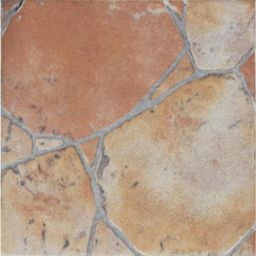 FLOORS 2000 12-Pack Red Porcelain Floor and Wall Tile (Common: 13-in x 13-in; Actual: 13.44-in x 13.44-in)