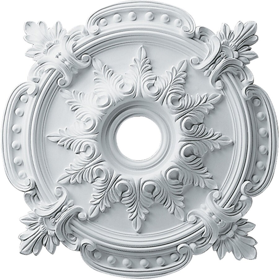 Ekena Millwork Benson 28.375-in x 28.375-in Polyurethane Ceiling Medallion