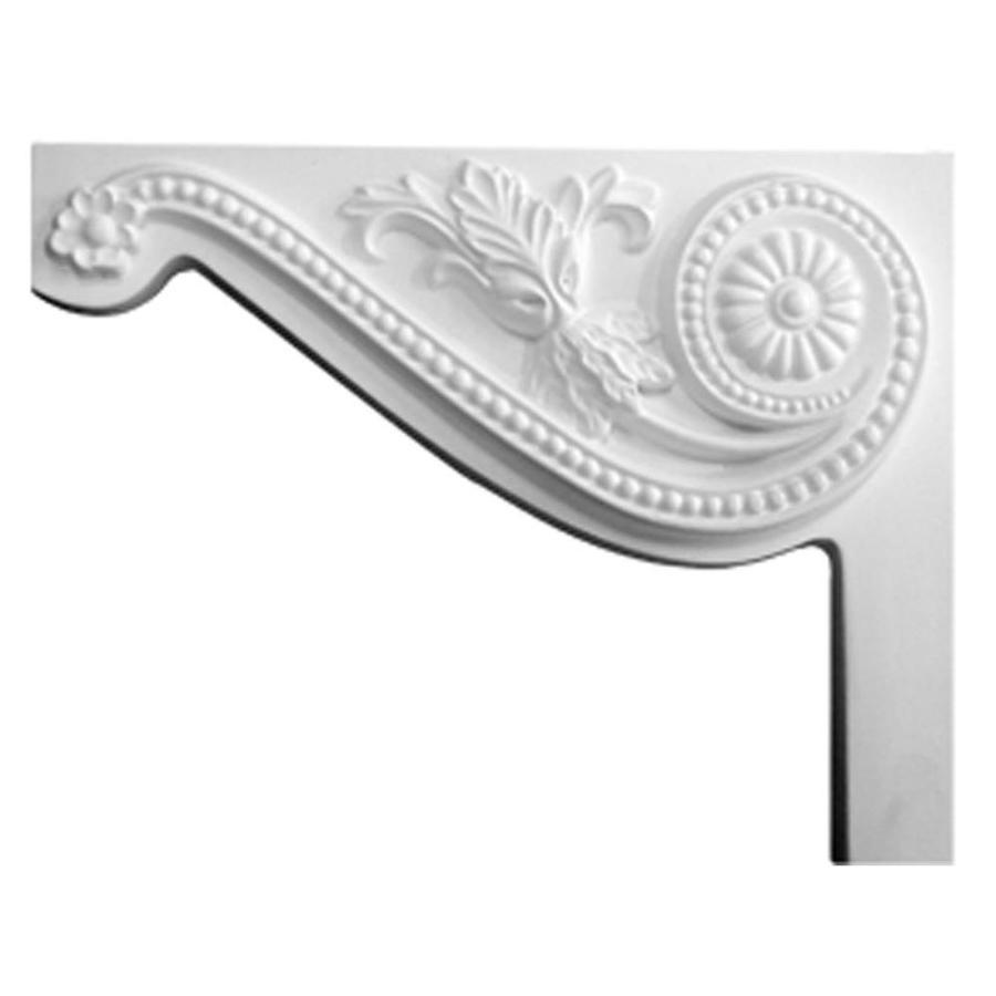 Ekena Millwork 8-in x 6.5-in Pearl Urethane Applique