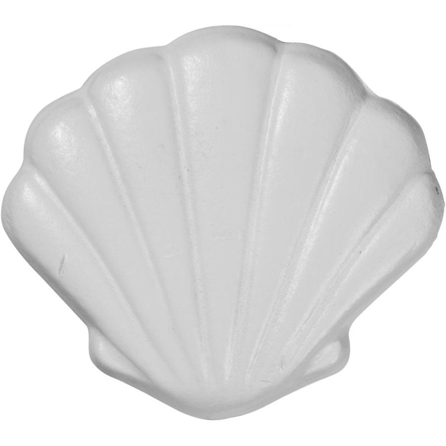 Ekena Millwork 3-in x 2.75-in Elsinore Shell Urethane Applique