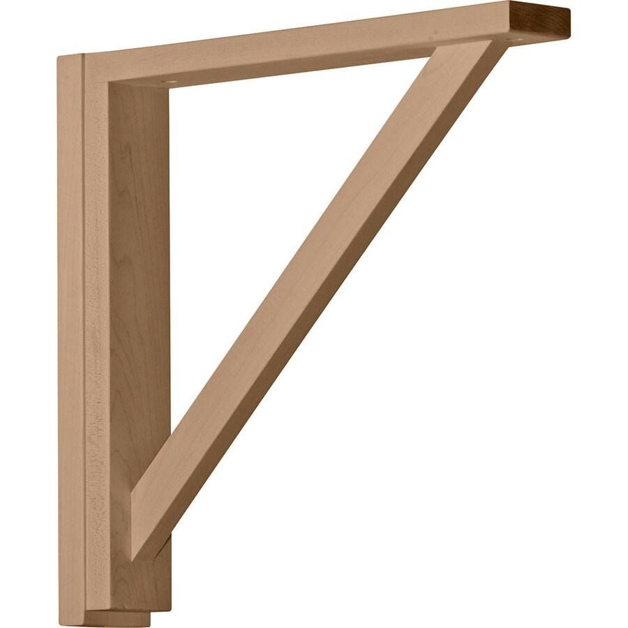 Ekena Millwork 2.5-in x 14.25-in Maple Traditional Wood Corbel